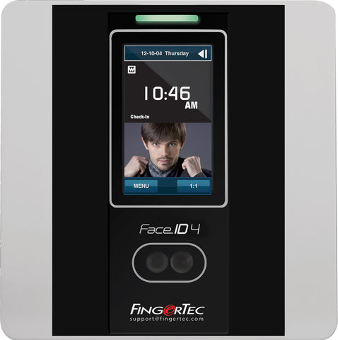 FingerTec Face ID 4 - Facial Time Clock | Facial and RFID Time Attendance