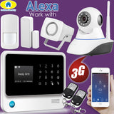GS Wireless WIFI 3G GSM Security system | Compatible with Alexa | App Controlled Burglar Alarm System