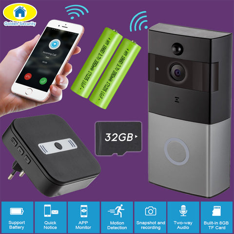 GS WiFi Video Door Bell | Video Intercom | 720P HD Waterproof Security Camera