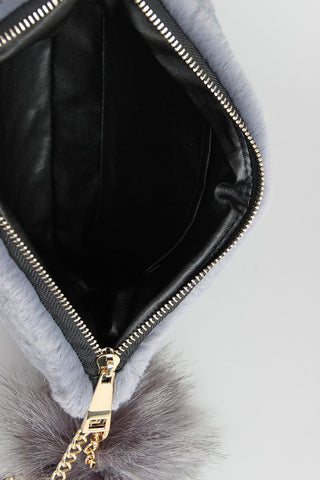 FAUX FUR KEYCHAIN CLUTCH