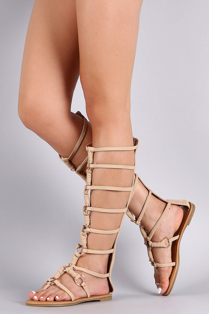 433610f34c60 Metallic Rings and Knots Gladiator Sandal – bvstore-26645
