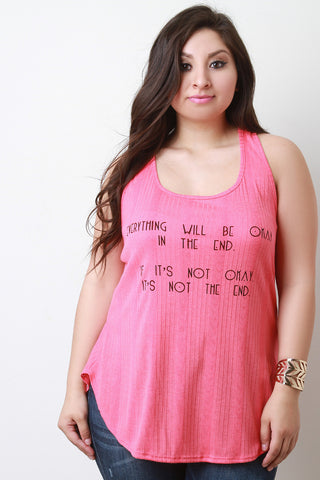 29b056dd5ec068 Find Your Anchor Graphic Print Stripe Top.  38.89. Everything Will Be Okay  Graphic Print Tank Top ...