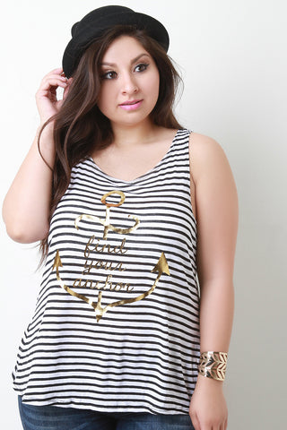 680850f547ee33 Find Your Anchor Graphic Print Stripe Top ...