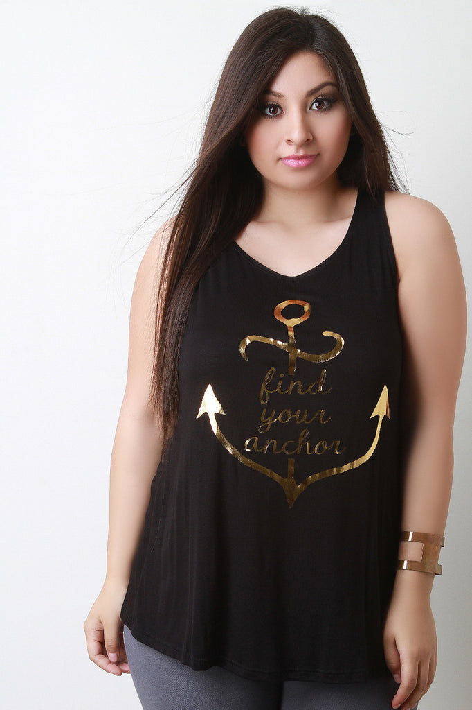 ee11fbd2dc557d Find Your Anchor Strappy-Back Tank Top – Kurve Boutique
