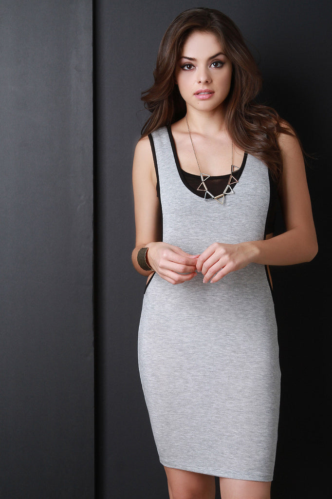 Sporty Long Armhole Mini Dress