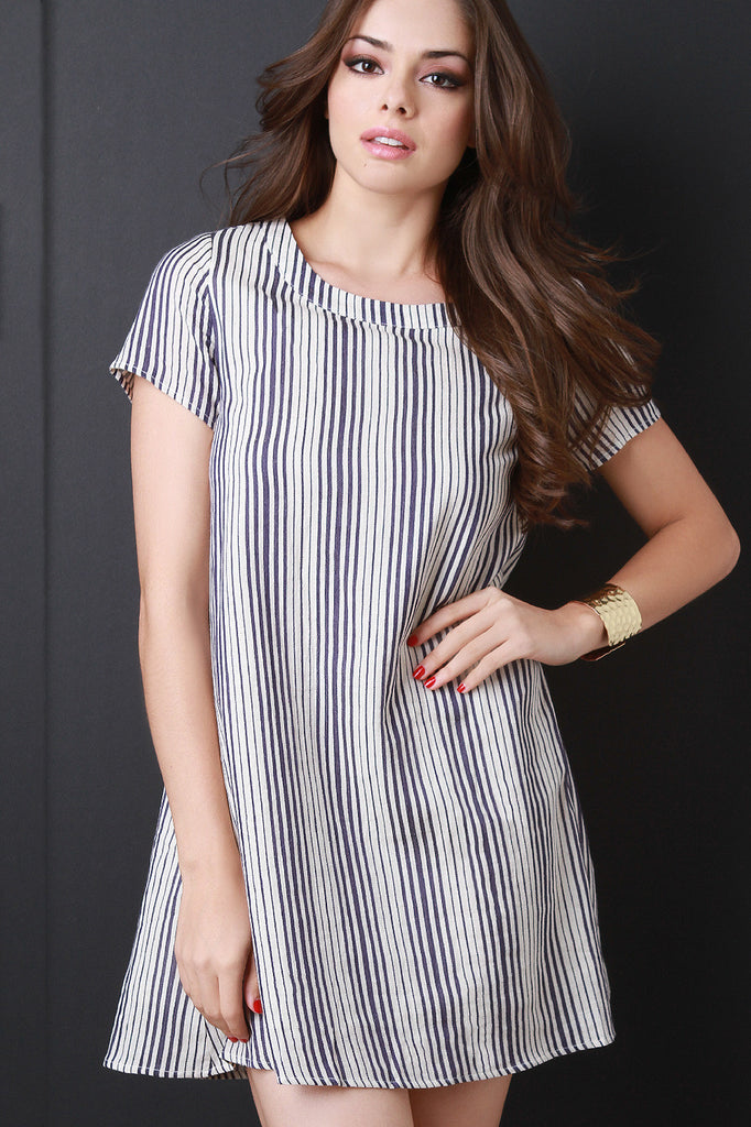 Striped Cotton Tee Shirt Dress