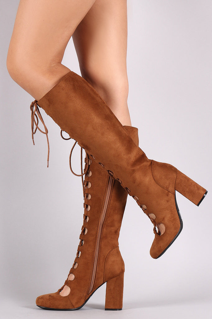 8a90c9cf0c1 Qupid Lace Up Chunky Heel Boots – Kurve Boutique