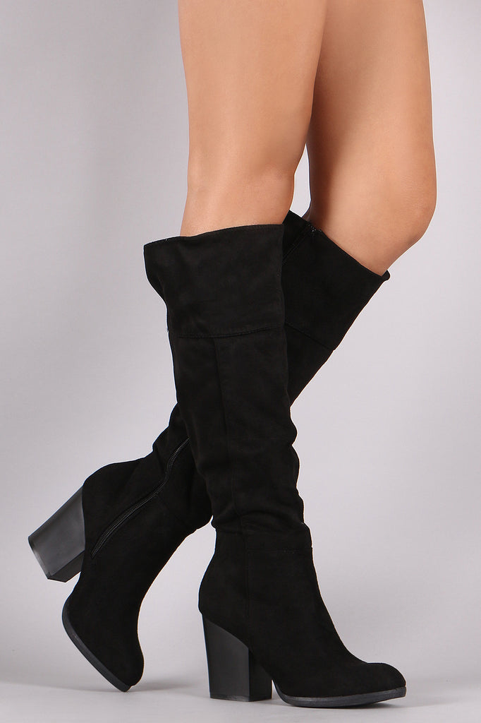 9d92fa1571f Bamboo Suede Chunky Heel Knee High Boots – Kurve Boutique