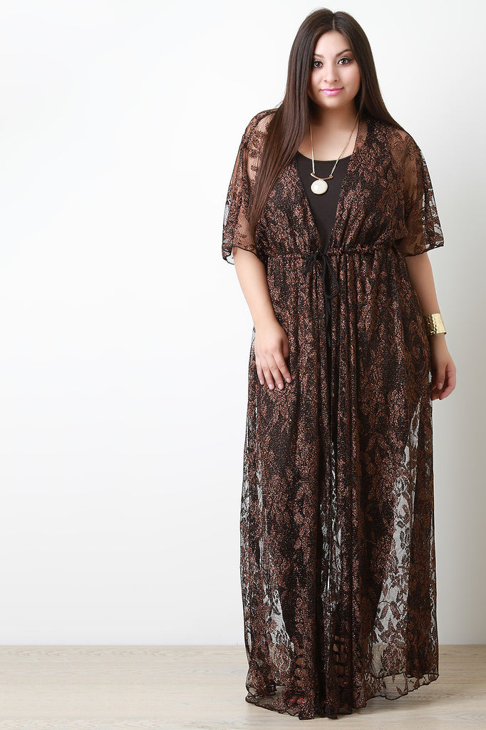 Shimmer Lace Maxi Cover Up