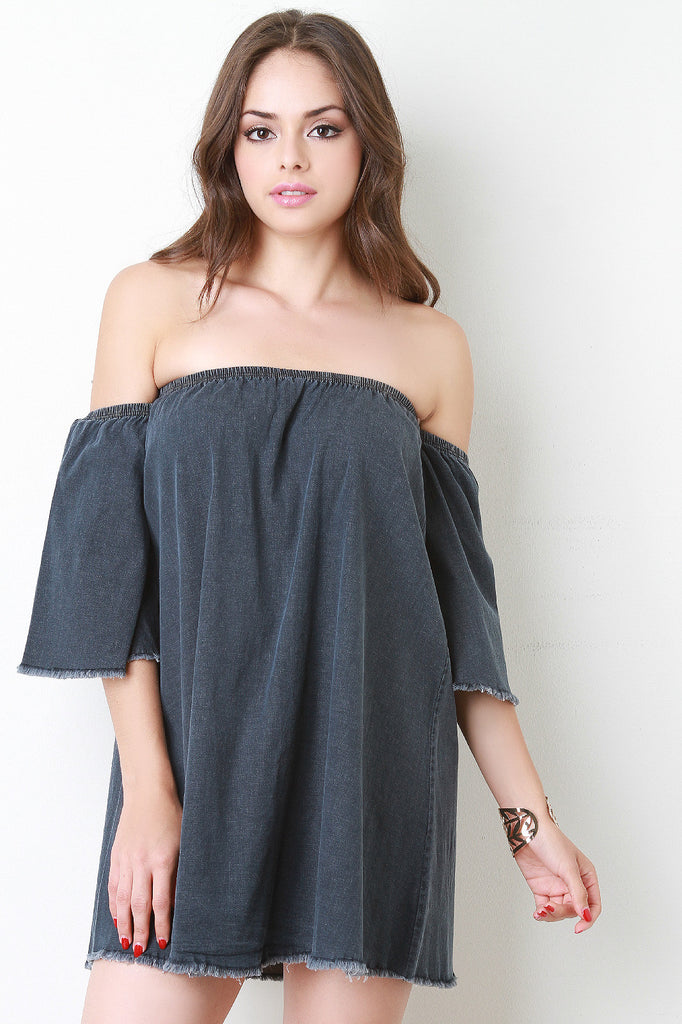Bardot Denim Mini Swing Dress