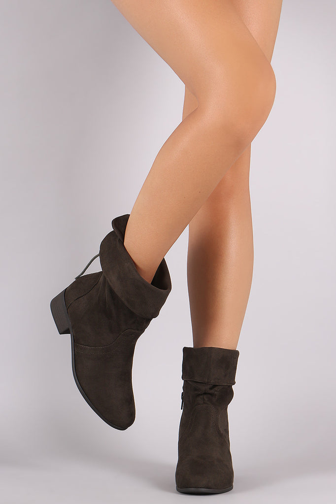 Soda Slouchy Folded Cuff Ankle Boots