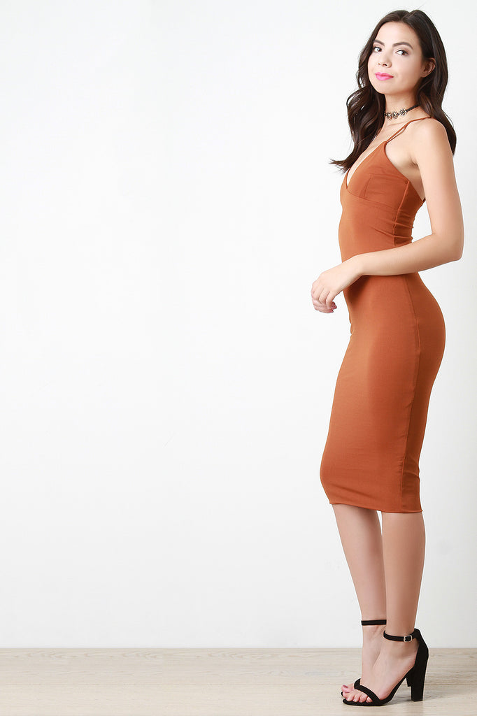 Cami Bodycon Midi Dress, Clothes, Dresses, Kurve Boutique - Kurve Boutique