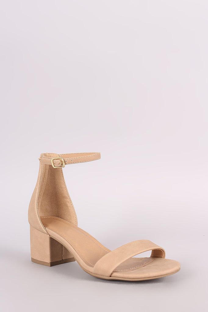 0a8a721e50c3 City Classified Nubuck Ankle Strap Open Toe Block Heel – Kurve Boutique