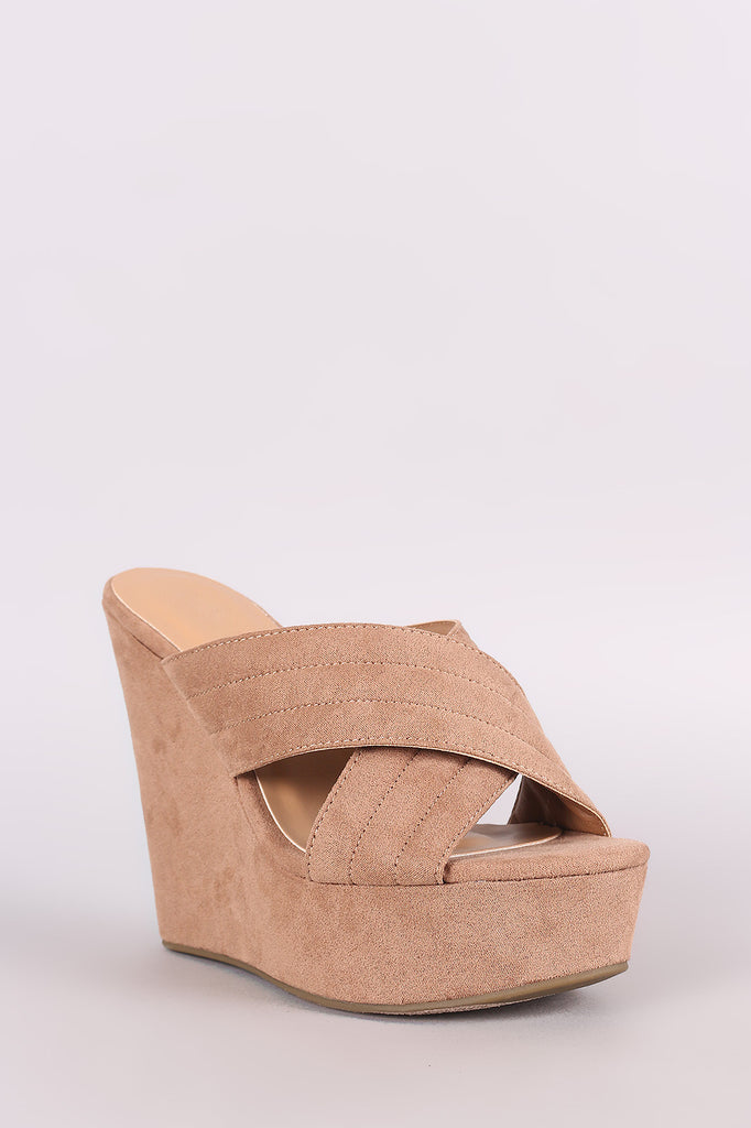 01068dd7e9f Bamboo Crisscross Quilted Suede Platform Wedge – Kurve Boutique