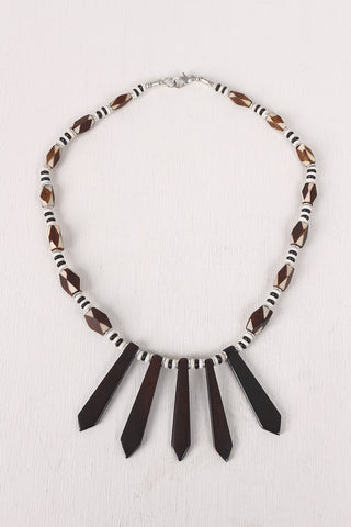 Two Tone Wooden Bead Necklace