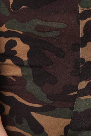 Camouflage Print Stretchy Leggings