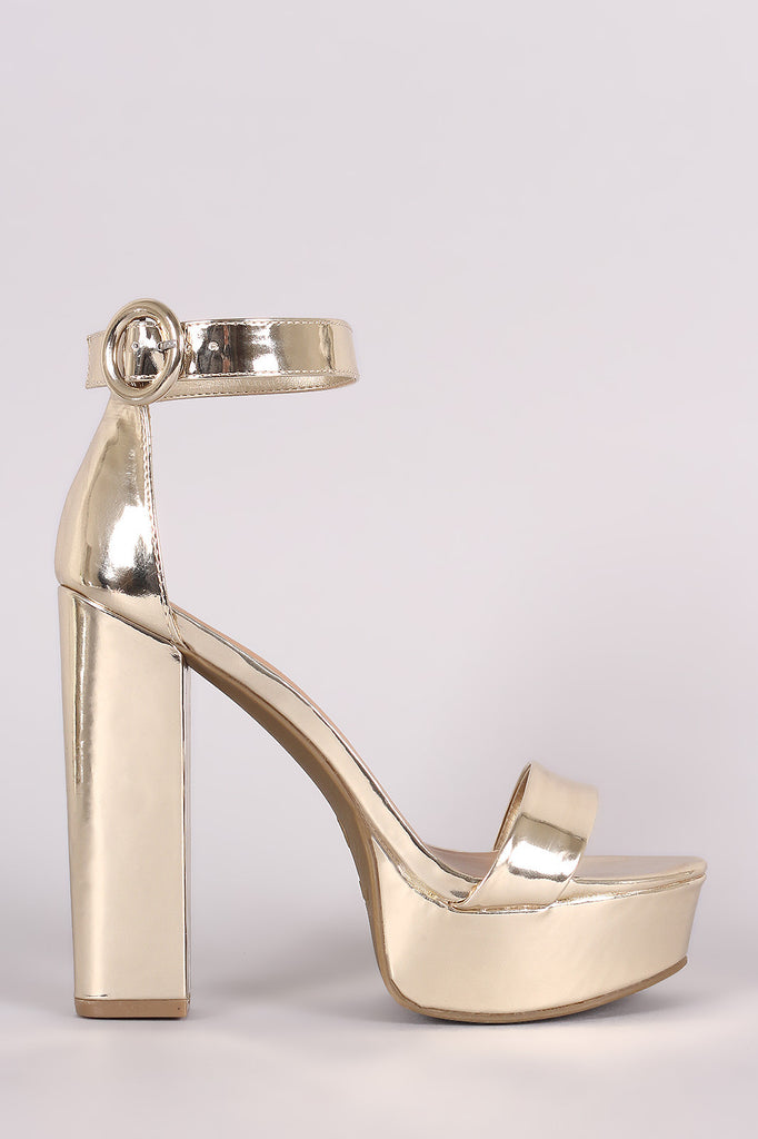 04e82df95c4 Bamboo Metallic Ankle Strap Platform Chunky Heel – Kurve Boutique