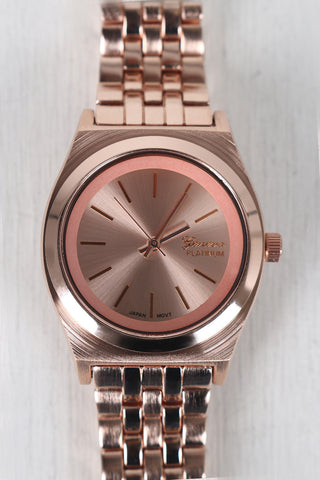 Slim Metallic Boyfriend Watch