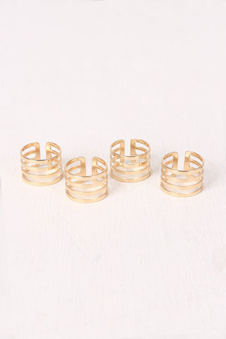 Four Bar Split Ring Set