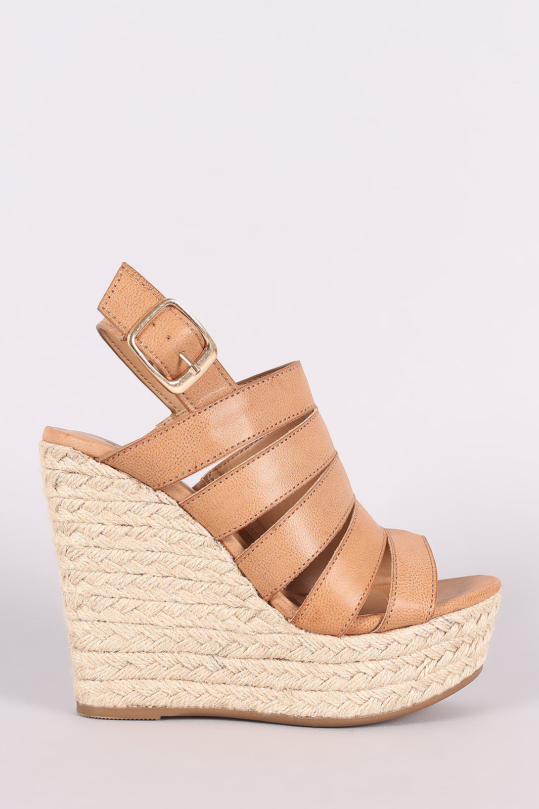 shades of newest collection buy best Bamboo Strappy Slingback Espadrille Wedge – Kurve Boutique