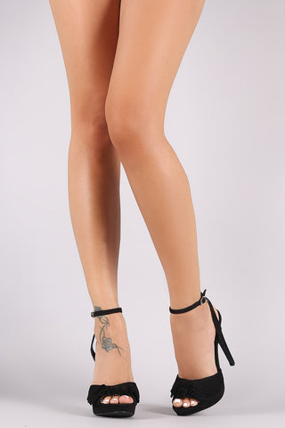 Wild Diva Lounge Tier Ruffled Peep Toe Stiletto Heel