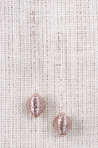 Metallic Drop Ball Earrings