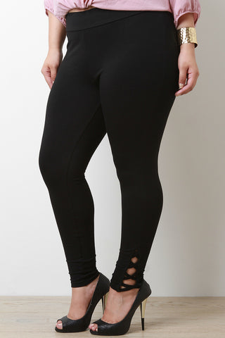 Side Criss Cross Stretch Leggings