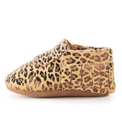 BirdRock Baby - Leopard Genuine Leather Baby Moccasins