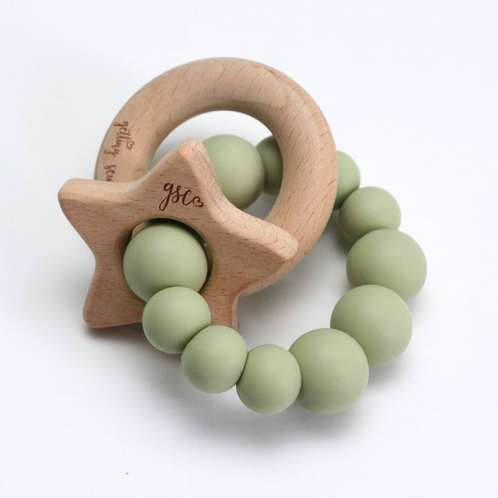 Natural Star - Silicone + Wood - DOT.KIDZ