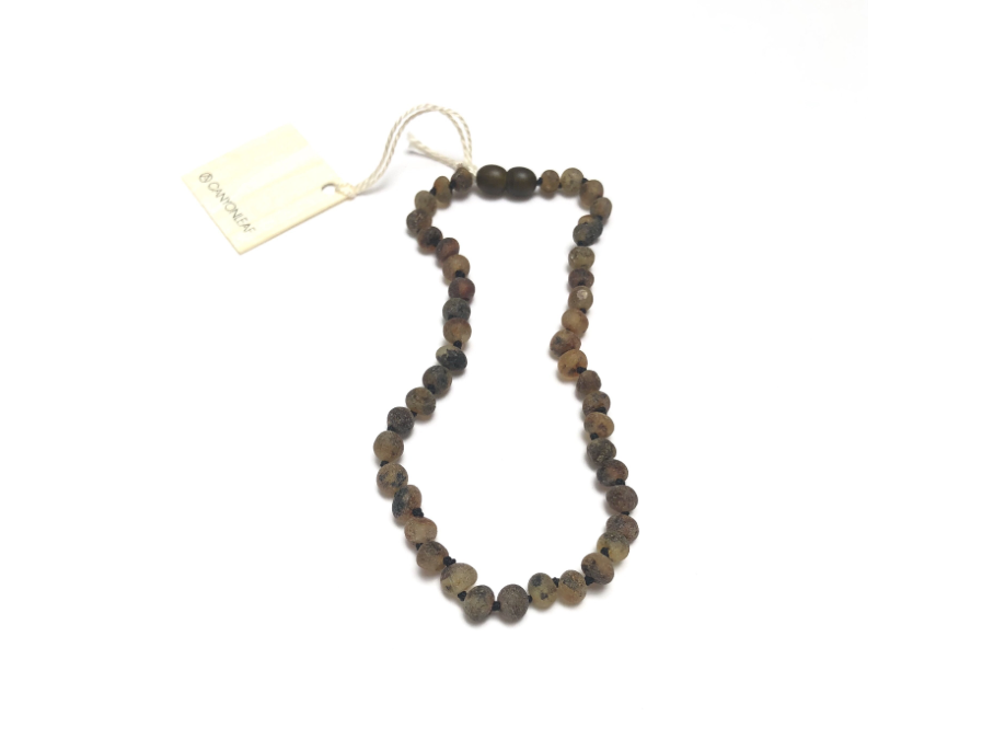 CanyonLeaf - Raw Organic Green Amber Necklace