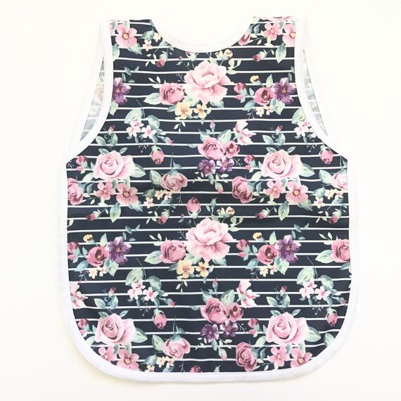 BapronBaby - Retro Stripe Rose Floral - DOT.KIDZ