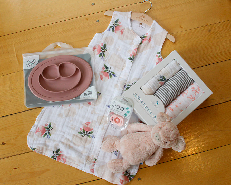 Watercolor Rose Sleep Bag - Sleep Sack - Little Unicorn - Cotton Muslin