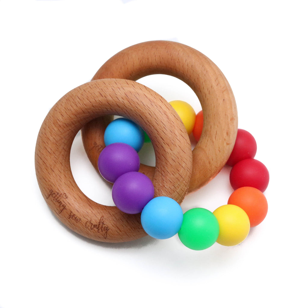 Rainbow RIng Teether - Food grade silicone - Dot Kidz