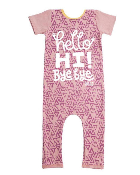 Pink Triangle Romper - DOT.KIDZ