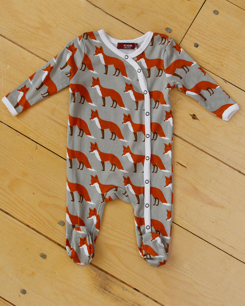 Grey Fox Romper - DOT.KIDZ