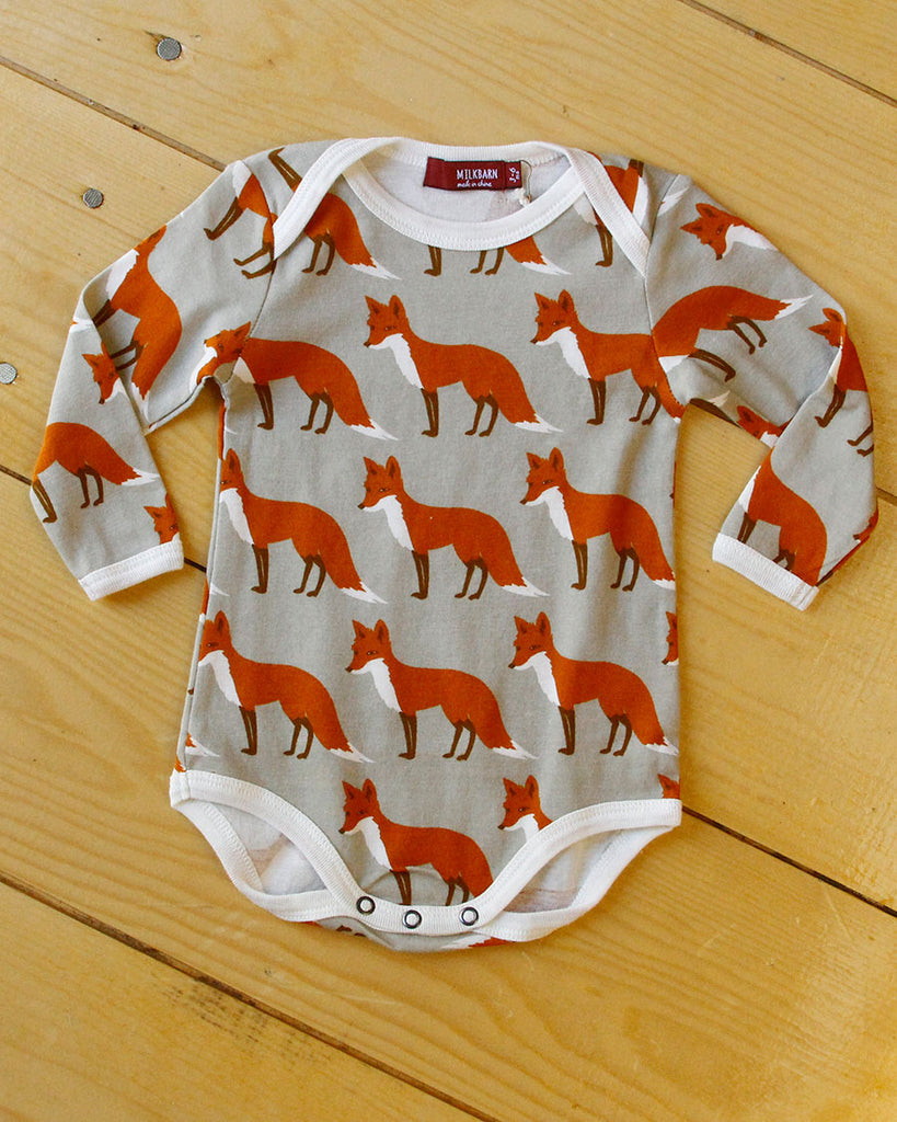 Orange Fox Onesie - DOT.KIDZ