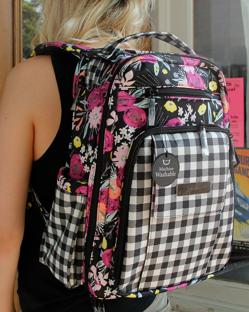 Gingham Black & Bloom Jujube Be Be right back Backpack Diaper Bag