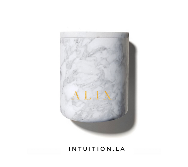 Alix candle (marble)