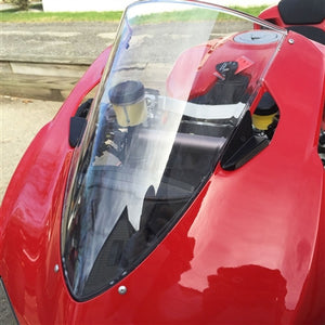 Ducati 899 Panigale LED Mirror Block Off LED Front Turn Signals.