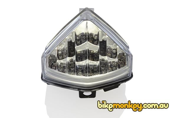 2012-2014 Honda CBR600F Integrated Tail Light in Clear or Smoked Lens | LED Turn Signals | LED Tail Light