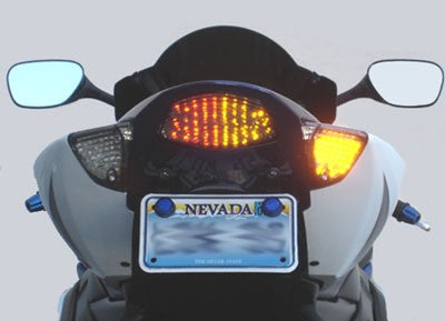 2005-2006 Suzuki GSXR1000 Integrated Tail Light in Clear Lens | LED Turn Signals | LED Tail Light
