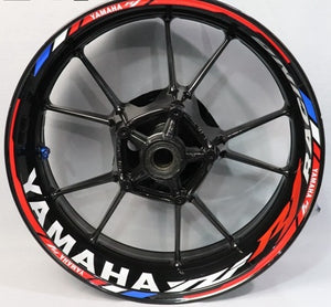 Yamaha R1 Wheel Decals | Yamaha R1 Rim Stickers | Yamaha R1 Wheel Stickers