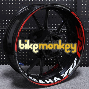 Yamaha R6 Wheel Decals | Yamaha R6 Rim Stickers | Yamaha R6 Wheel Stickers in Red
