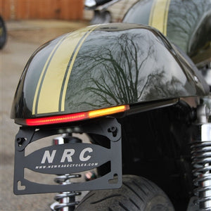 2009-2015 Triumph Thruxton Fender Eliminator Kit | Integrated Tail Light | LED Turn Signals | Tail Tidy | Belly Pan