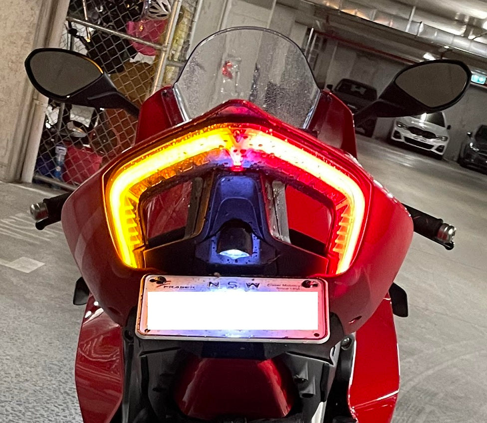 Ducati Panigale V2 Integrated Tail Light | Ducati Panigale V2 Tail Light with Built-In Turn Signals  | E-Approved