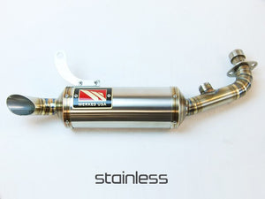 Kawasaki Z125 PRO GP Slip-On Exhaust by Competition Werkes. Kawasaki Z125 Exhaust