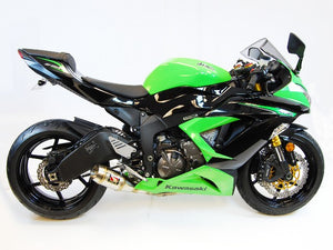 2013-2020 Kawasaki ZX6R GP Slip-On Exhaust by Competition Werkes. Kawasaki ZX6R Exhaust