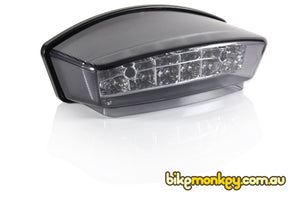 Ducati Monster 750 Integrated Tail Light in Clear or Smoked Lens | Ducati Monster 750 LED Tail Light with Built-In Turn Signals