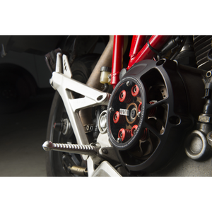 Ducati Multistrada DS1000 Clear Clutch Cover by Womet-Tech | Ducati Multistrada DS1000 Clear Clutch Cover Oil Bath