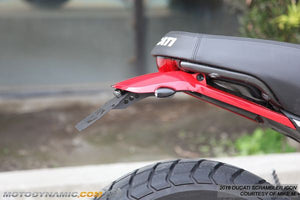 2018 Ducati Scrambler Mach 2.0 Fender Eliminator Kit | 2018 Ducati Scrambler Mach 2.0 Tail Tidy | LED Plate Light